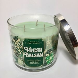 Bath & Body Works Accents - FRESH BALSAM 3 Wick Candle